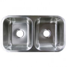 Stainless Steel Undermount Sink - Double Bowl UM32189