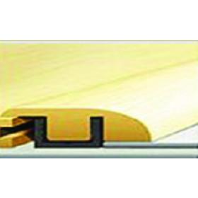 """156-1 Rough-Sawn Chestnut Rigid Vinyl Plank Reducer 7'-8""""L x 1.38""""W x .47""""T"""