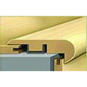 """919-5 American Walnut Rigid Vinyl Plank Stairnose 7'-8""""L x 2.16""""W x .7""""T"""