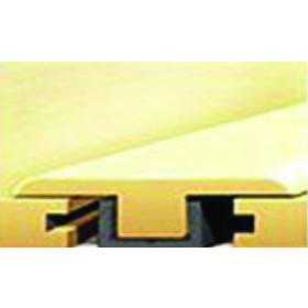 """919-5 American Walnut Rigid Vinyl Plank T-Mold 7'-8""""L x 1.38""""W x .47""""T"""
