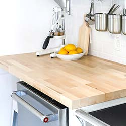 Unfinished Butcher Block Countertop Image