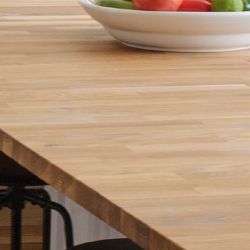 Close-up of Butcher Block Kitchen Countertop