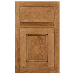 Henlow Square Inset - Ginger Java - Wellborn Cabinet Sample