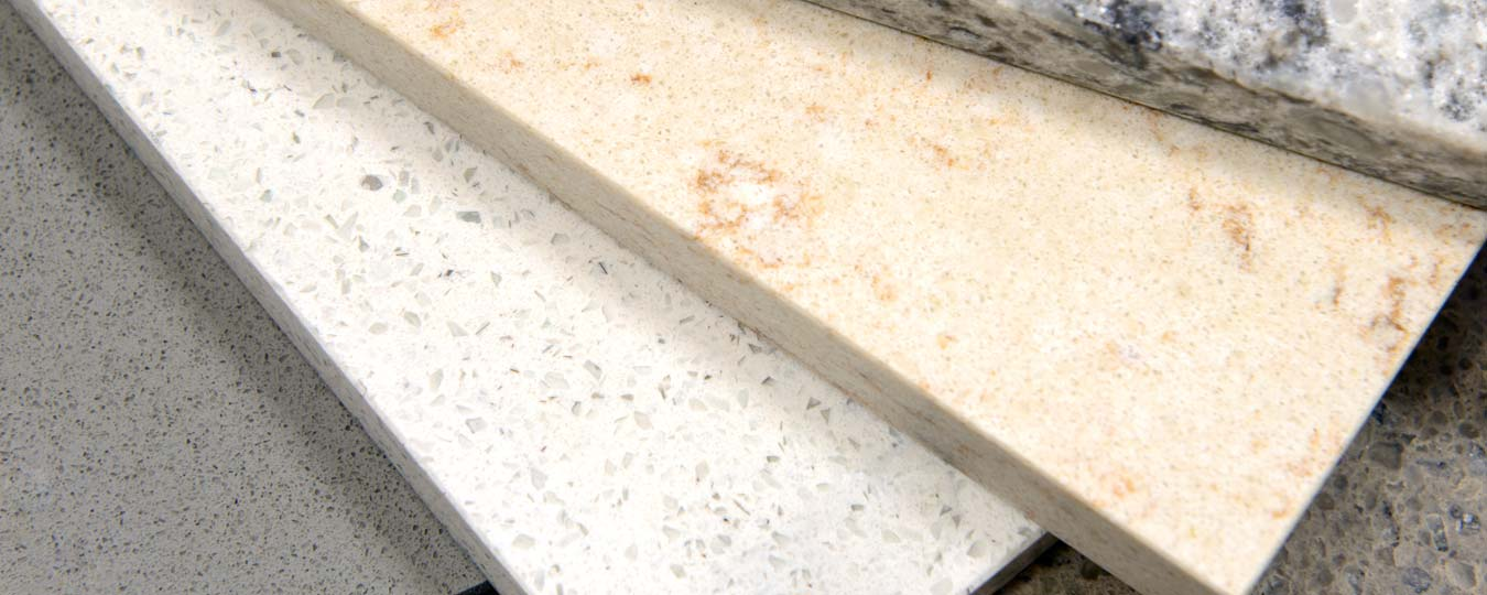 Several Kitchen Countertop Samples Shown Together