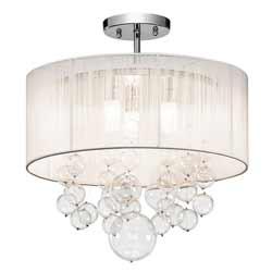 Imbuia Semi Flush Mount Ceiling Light