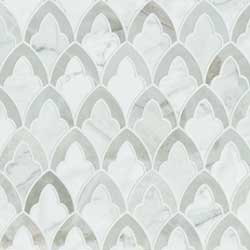Marquesa Floret Glazed Ceramic Tile