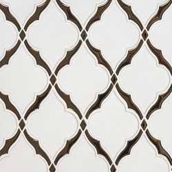 Victorian Light Arabesque Ceramic Tile