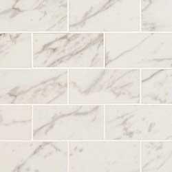 Pietra Carrara Porcelain Polished 2x4 Subway Mosaic Tile