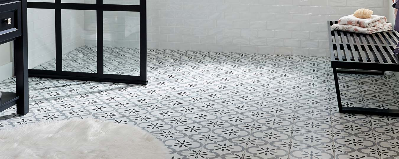 Photo of Wall Tile and Floor Tile in a Room Setting