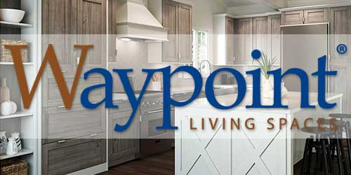 Waypoint Cabinets Logo and Sample Image